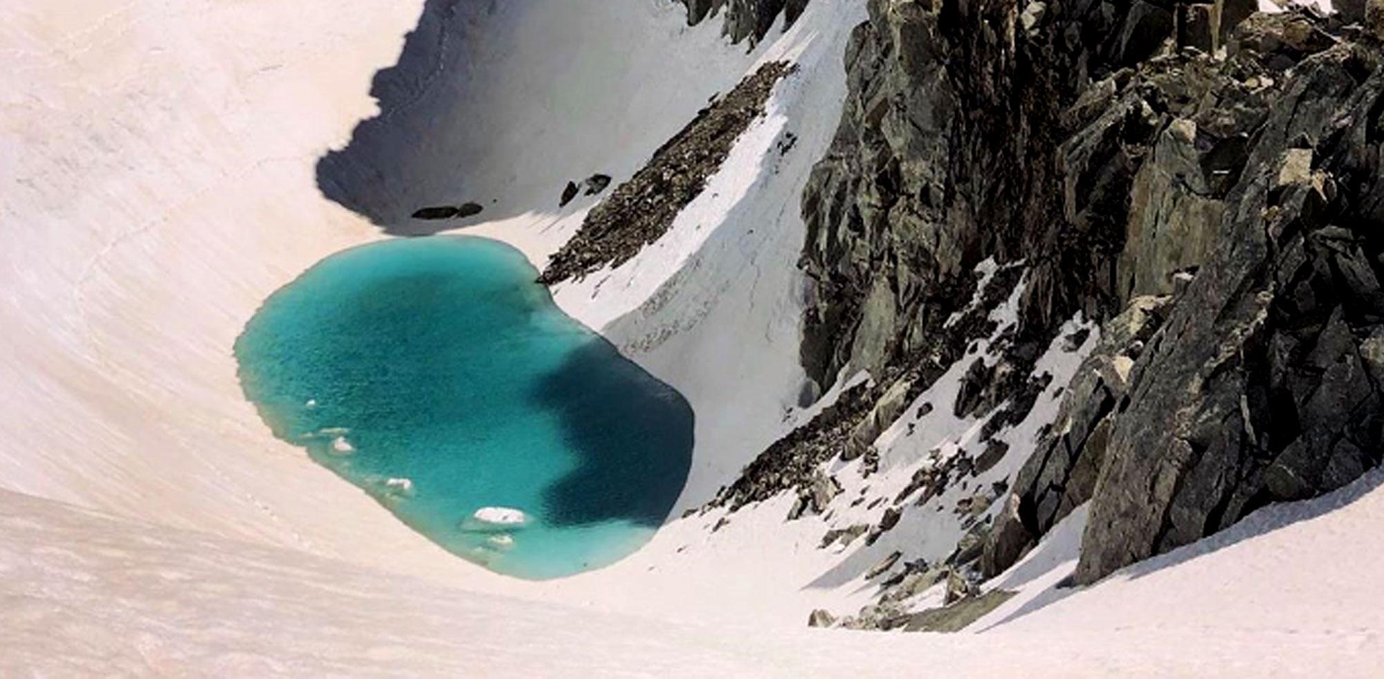 Alpinista spojrzał na dół i zdębiał. Natychmiast zrobił zdjęcie