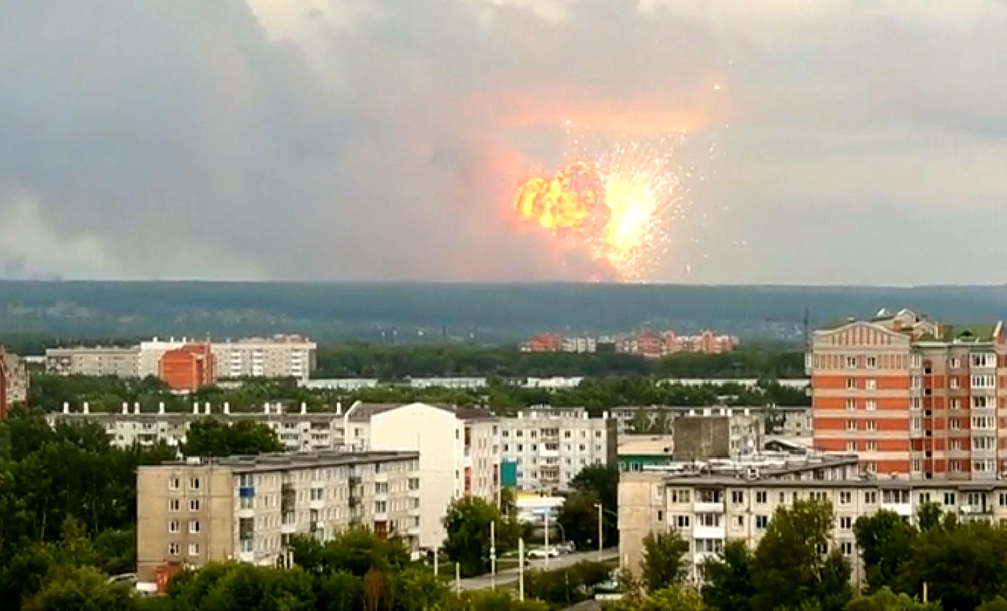 Eksplozja składu amunicji. Nagrania świadków